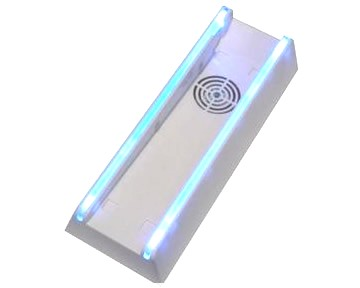 STAND  VERTICAL PARA NINTENDO Wii CON VENTILACION Y LUZ AZUL - STAND  VERTICAL PARA NINTENDO Wii CON VENTILACION Y LUZ AZUL