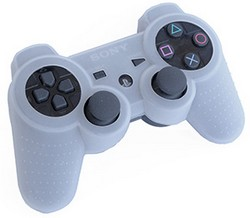 PS3 Shock Protector color BLANCO - PS3  Shock Protector. Funda potrectora de silicona para mandos de PS3 .