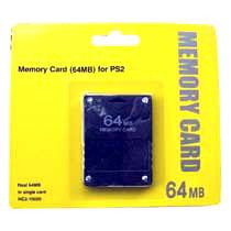 Memory Card 64 Mb PS2 - Memory Card de 64Mb sin compresión, para PS2 y PSTW0