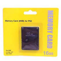 Memory Card 16 Mb PS2 - Memory Card de 16 Mb sin compresión, para PS2 y PSTW0