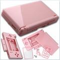 Carcasa Recambio para Nintendo DS Lite (Color Rosa ) - Carcasa de repuesto para NDS  Lite. Con todo lo necesario para la sustitucion completa de carcasa y botones. Incluye tornilleria, tacos de goma y pegatinas.