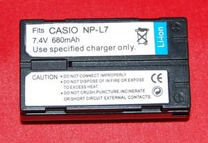 Batería compatible  CASIO NP-L7 - Batería compatible CASIO NP-L7