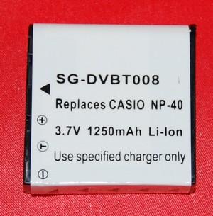 Batería compatible  CASIO NP-40 - Batería compatible CASIO NP-L7