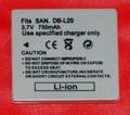 Batería compatible  SANYO DB-L20 - Batería compatible SANYO DB-L20