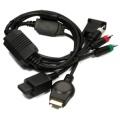 Cable VGABOX PARA  PS3/Wii (PARA CONECTAR CONSOLA A UN MONITOR) - Cable VGA para PS3 y Wii. Convierte la señal por componentes a conexión VGA.