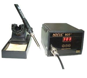 Estacion de soldadura regulable DIGITAL  de 0 a 65 W Aoyue 937+ - Estacion de soldadura regulable DIGITAL de 0 a 65 W. Regulable en temperatura. Disponemos de muchos modelos de puntas diferentes(la estacion solo incluye la normal), que se pueden adquirir por separado en esta misma seccion.
