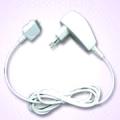 Adaptador de corriente  para el iPod - Adaptador de corriente para conectarlo fácilmente a cualquier enchufe y recargar tu iPod con rueda de clic. Valido para todos los Ipod, excepto Ipod IPOD IPOD Shuffle, Itouch 2G e IPhone 3G.