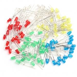 Pack 100 Led 3mm dip, Colores, 5 colores , 20 de cada color,blanco,rojo,verde,azul y amarillo - Pack 100 Led 3mm dip, Colores, 5 colores , 20 de cada color,blanco,rojo,verde,azul y amarillo En bolsa con cierre