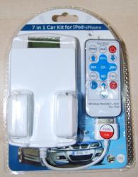 Kit de Coche 7 en 1 para iPod, Iphone,Iphone 3G y Itouch . - Kit de Coche 7 en 1 para iPod, Iphone,Iphone 3G y Itouch . Incluye Soporte + cargador + emisor Fm+ Mando a distancia Ya Puedes disfrutar de toda la musica de tu Ipod en tu coche.