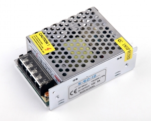 Transformador-Fuente de Alimentacion/Alimentador AC a DC de 220 a 12v 5 Amperios- 60W - Transformador-Fuente de Alimentacion/Alimentador AC a DC de 220 a 12v 5 Amperios- 60W Convertidor/Alimentador de 220v a 12v 5 Amp 60W. Valido para Alimentacion Driver para Tiras de Led de 12 voltios de 60W de potencia.