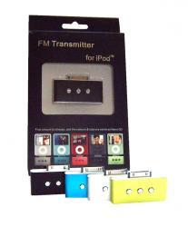 IPod Wireless   FM Transmitter   -  iPod FM Transmitter, un transmisor para el iPod, a fin de poder escuchar la musica de tu Ipod , por la radio de tu coche, o cualquier otra radio Sintonizacion digital de frequencia de 89.8 a 107,9. Acabado igual que el Ipod Nano 3G, pero compatible con los Ipod Nano 2G. 3G 4G, Ipod Photo, Ipod Video, Ipod classic. Disponible en 4 colores. Hasta 9 Memorias presintonizadas. Con conector dock para cargar el Ipod mientras se usa el FM-transmitter