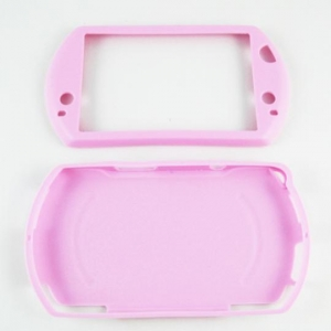 Funda Protector Silicona PSP GO Color ROSA - Funda Protectora Silicona PSP GO