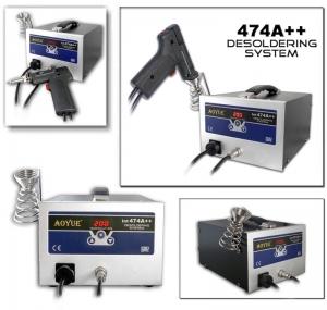 Estacion desoldadora AOYUE 474A++ - Estacion desoldadora AOYUE 474A++ . Estacion desoldadora, con pistola, desuelda por succion, incluye varias puntas para diferentes trabajos. Muy versatil  Nueva versión digital.