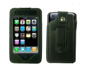 Funda de piel  para iPhone 3G y para iPhone 3GS - La funda de piel ofrece una  proteccion para tu iPhone en el uso diario de los golpes y rasguños. Inluye pinza de sujección