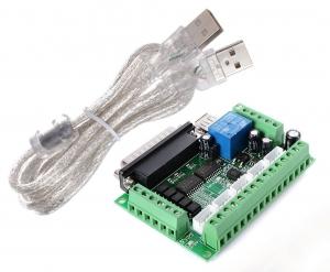 5 Axis CNC Breakout Board Adapter for Stepper Motor Driver Mach3+USB Cable - PLACA CONTROLADORA CNC 5EJES PARA MOTORES PASO A PASO COMPATIBLE CON MACH3  + CABLE USB