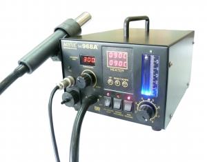 Estación de soldadura AOYUE 968A+ - Estación completa , permite  soldar y desoldar componentes en cualquier formato, SMD,DIP ETC, Incluye absorsion de humos.
