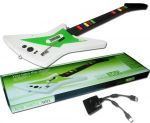 XBOX 360 Guitarra inalambrica  compatible con los juegos de la serie Guitar Hero y Rock Band - XBOX 360 Guitarra inalambrica  compatible con los juegos de la serie Guitar Hero y Rock Band. **para usarla es preciso conectar un mando ORIGINAL  con cable de xbox 360 al receptor inalambrico.