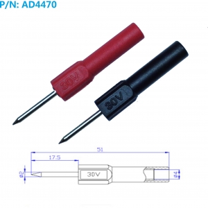 AD4470Sonda de prueba  punta de 2mm para banana 4mm - AD4470 Sonda de prueba  punta de 2mm para banana 4mm