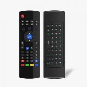 MX3 2.4 ghz Fly Air Mouse  Teclado Inalámbrico Control Remoto Para Mx Mx2 Mx3 M8 Pc Android Xbmc - 2.4 ghz Fly Air Mouse Teclado Inalámbrico Control Remoto Para Mx Mx2 Mx3 M8 Pc Android Xbmc teclado con airmouse, en un lado es mando a distancia en el otro es teclado y cuando lo movemos tiene la funcion de airmouse para permitirnos mover por la pantalla.