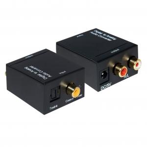 Convertidor señal Audio Digital a Audio Analogico. - Convertidor señal Audio Digital a Audio Analogico. Con este adaptador podrás convertir la señal señal Audio Digital coaxial or Toslink a una salida de Audio Analogico