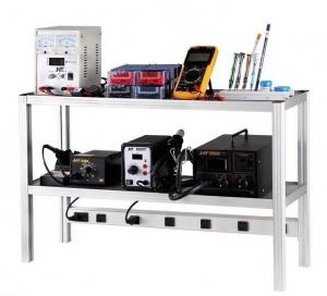 Banco trabajo para mesa herramientas electronica - Plataforma de  trabajo para mesa herramientas electronica.  Fabricada en aluminio