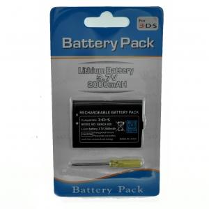 Batería Recargable de Ion-Litio para  NINTENDO 3DS 3,7v 2000mah - Batería Recargable de Ion-Litio NINTENDO 3DS  • Sólo para NINTENDO 3DS• Incluye destonillador para cambiar la bateria