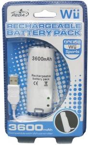 Batería recargable 3600mAh Wii - Batería recargable de 3600mAh para mandos remotos de Wii. Recarga mediante el puerto USB de la consola o de cualquier ordenador. Cable USB de carga incluido