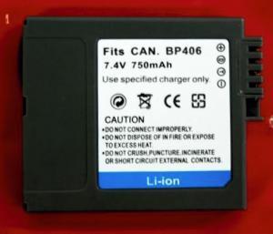 Batería compatible  CANON BP-406/407 - Batería compatible  CANON BP-406/407