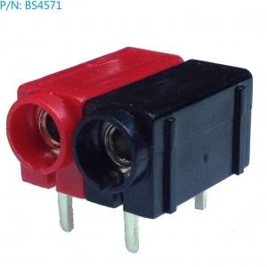 BS4571 Conectores de montaje superficial para placa hembra para banana de 4mm - BS4571 Conectores de montaje superficial para placa hembra para banana de 4mm