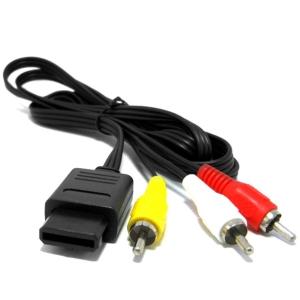Cable AV Nintendo 64/ N64 /SNES/ NGC /Gamecube - Cable AV compatible con Nintendo 64/ N64 /SNES/ Super NES/NGC /Gamecube(100% nuevo) Conexión con conector AV.
