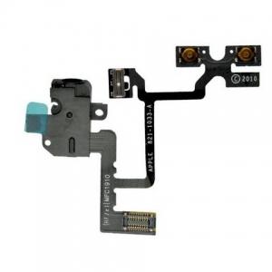 Cable Flex Audio iPhone 4 Negro - Cable Flex Audio iPhone 4 Negro Cable flex de repuesto que incluye los botones de subir y bajar el volumen, el mecanismo de vibración y la entrada de auriculares del iPhone 4.