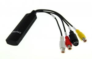 CAPTURADORA VIDEO EASY CAP USB compatible windows XP/VISTA/7/8 - Capturadora de video rca por puerto usb. Con ella podras grbar los programas de TV  o cualquier señal analogica a digital como como películas, cintas de video vhs, video camara,  digitalizarlas, y almacenarlas en SD, DVD, etc.