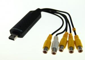CAPTURADORA VIDEO EASYCAP 4 CANALES USB 2.0 (VIDEO VIGILANCIA) - EasyCap 4 es un sistema de grabación monitorización de camaras de videovigilancia para PC que permite visualizar o grabar hasta 4 camaras simultaneamente en un PC por puerto USB 2.0. Ideal para casa, tiendas , oficinas etc..o con el proposito de vigilar a su  bebe.