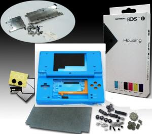 Carcasa para Nintendo DSi en color AZUL - Carcasa completa de repuesto para DSi. Incluye todos los botones y tornillos.