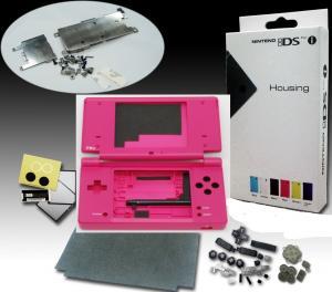 Carcasa para Nintendo DSi en color ROSA - Carcasa completa de repuesto para DSi. Incluye todos los botones y tornillos.