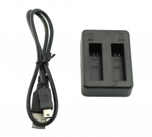 Cargador externo baterias Dual Camara GOPRO HERO 4 (carga 2 baterias) - Cargador Dual externo baterias Camara GOPRO HERO 4 (carga 2 baterias a la vez)