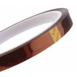 Cinta adhesiva Kapton 10mm (resitente al calor) - Cinta adhesiva Kapton 10mm (resitente al calor), tambien conocida como cinta de poliamida Producto para reballing BGA, y trabajos de soldadura en los que sea necesario proteger algun componente del calor