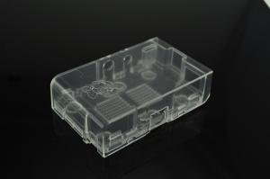 Caja plastico transparente Raspberry Pi transparente (compatible modelos A y B) - Caja plastico para Raspberry Pi con ranuras para los puertos USB, Ethernet, SD, HDMI, Video, Audio, Header de periféricos, Conectores CSI y JTAG.