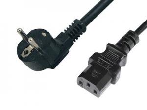 Cable de Alimentación PC   de Schuko - IEC de 1,8 Mts   - Cable de Alimentación Pc - Schuko - IEC de 1,8 Mts Fabricado con cable 0,75mm.  3 conductores  Conector 1: SCHUKO Macho.Toma de Tierra  Conector 2: IEC Hembra Angulado 90º.