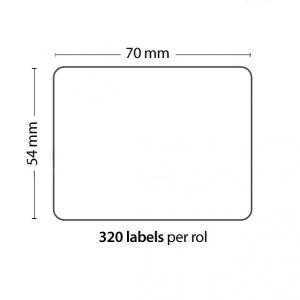 Rollo de 320 Etiquetas Adhesivas tamaño 70mm*54mm*320 Unidades compatible Dymo99015 - Rollo de 320 etiquetas adhesivas profesionales, hechas con papel de primera calidad. Especificamente diseñadas para el sistema de impresión termal directo Dymo.