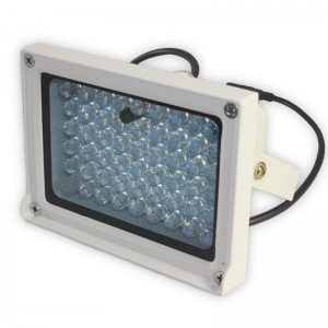 Foco de infrarrojos para visión nocturna de 54 LED exterior a 50m camara seguridad (sensor de luz) - Foco de infrarrojos para visión nocturna de 54 LED de exterior a 50m con sensor de luz, lo cual hace que funcione de noche cuando es necesario alargando la vida del foco y ahorrando energia