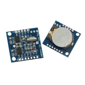 Placa reloj Arduino Tiny RTC I2C DS1307 [Arduino Compatible] - Esta placa está diseñada en base al conocido chip reloj DS1307 que ofrece una alta estabilidad y precisión a lo largo del tiempo. Incluye una pila boton ya montada.