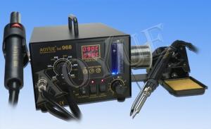 Estación de soldadura AOYUE 968 - Estación completa , permite  soldar y desoldar componentes en cualquier formato, SMD,DIP ETC, Incluye absorsion de humos.