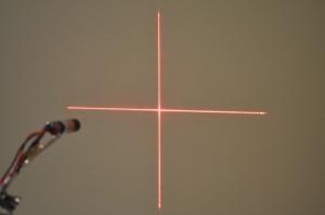Enfoque en cruz módulo  láser rojo 5mW de 3v a 5v - Enfoque en cruz módulo  láser rojo 5mW de 3v a 5v