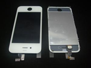 """Pantalla Iphone 4S + Panel Tactil y Cristal Lista para instalar """"BLANCO"""" - Remplazo de pantalla LCD + panel tactil + pantalla digitalizadora  + cable flex + marco de soporte BLANCO , todo ensamblado y listo para montar."""