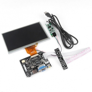 7 Inch TFT LCD Monitor para Raspberry Pi panel tactil + placa control HDMI VGA 2AV - 7 Inch TFT LCD Monitor para Raspberry Pi panel tactil + placa control HDMI VGA 2AV