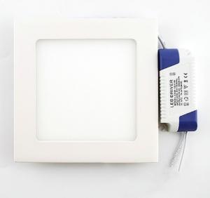 Placa LED Cuadrada SuperSlim 9W blanco frio 6000K downlight led - Placa LED Cuadrada SuperSlim 9W blanco frio 6000K downlight led incluye driver
