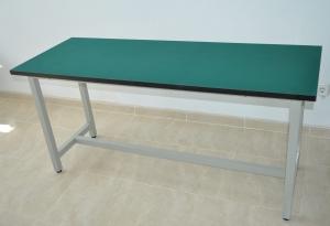 Mesa de trabajo con recubrimiento antiestatico 120cm x 80cm y 75cm altura - Mesa de trabajo con recubrimiento antiestatico 120cmx80cm y 75cm altura