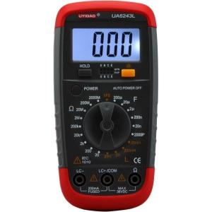 Medidor LCR Digital  UA6243L (impedancia, capacidad, resistencia, comprobacion transistores) - Medidor LCR Digital  UA6243L  Medidor de impedancia, capacidad, resistencia, comprobacion transistores y diodos , continuidad.