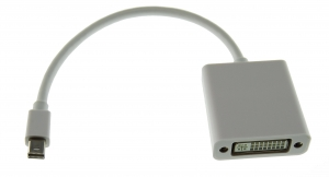Adaptador Mini DisplayPort a DVI - Adaptador de Mini DisplayPort a DVI podras conectar una pantalla,TV o  proyector utilice un cable o conector DVI a un Mac con conexión Mini DisplayPort.